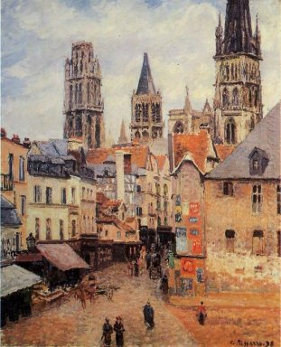 rue de l epicerie at rouen on a grey morning 1898