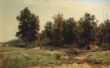 At The Edge Of An Oak Forest 1882