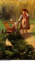 Child with Cart