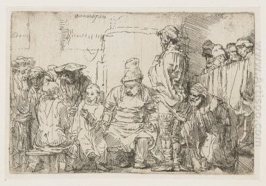 Christ Seated Disputing With The Doctors 1654
