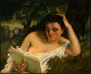 A Young Woman Reading 1868