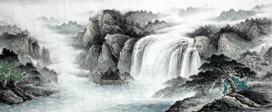 Mountain and waterfall - Chinese Painting