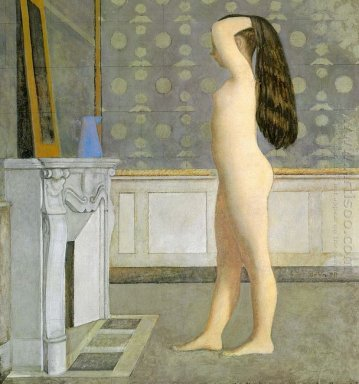 Figure In Front Of A Mantel 1955