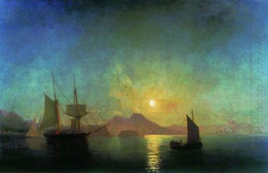The Bay Of Naples By Moonlight 1842