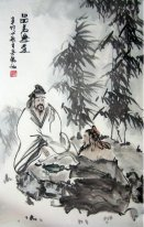 Drinking tea-Chinese Painting