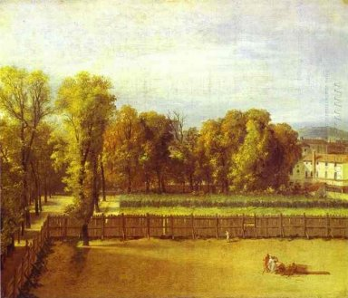 View Of The Luxembourg Gardens In Paris 1794