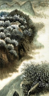 Mountain and Trees - Chinese Painting