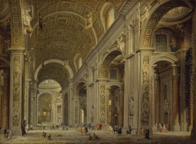 Interior of St Peter\'s in Rome
