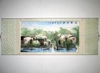 Water Township - Mounted - Chinese Painting