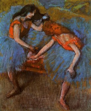 two dancers with yellow corsages