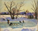 Pond Sun And Snow 1936