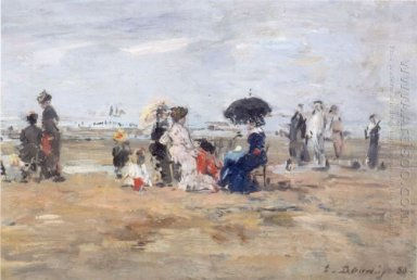 Trouville Scene On The Beach
