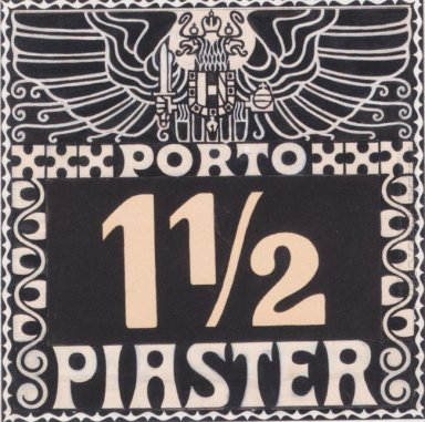 Design For The 1102 Piastres Porto Brand Of Austrian Post In The