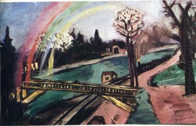 Railway Bridge And Rainbow 1942