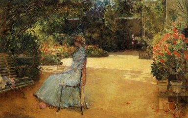 The Artist S Wife In A Garden Villiers Le Bel