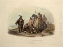 Crow Indians, plate 13 from volume 1 of `Travels in the Interior