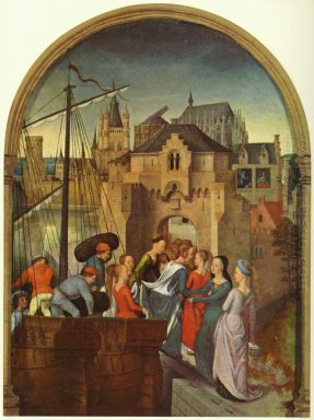 St Ursula And Her Companions Landing At Cologne From The Reliqua