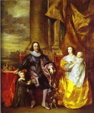 charles i and queen henrietta maria with charles prince of wales