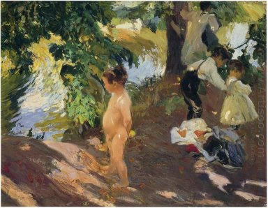 Bathing At La Granja 1907