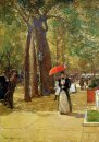 Hassam Childe Fifth Avenue At Washington Square Sun