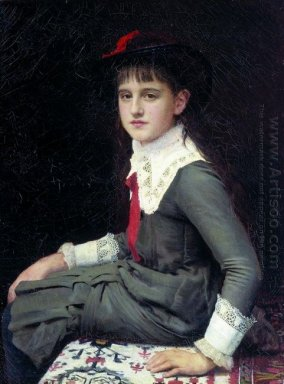 Portrait Of Barbara Kirillovna Lemokh In Childhood 1882
