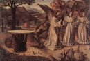 abraham served by three angels