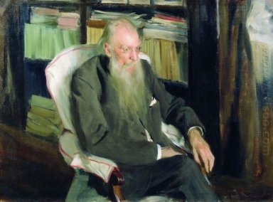 Portrait Of The Writer D L Mordovtsev 1901