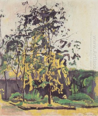 Tree In The Workshop Garden 1917