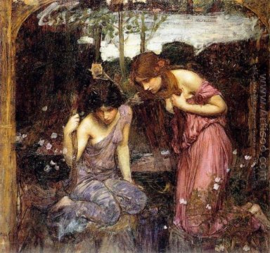 Nymphs finding the Head of Orpheus study 1900