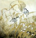 Birds in Winter - Pintura china