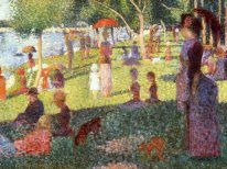 Sketch With Many Figures For Sunday Afternoon On Grande Jatte 18