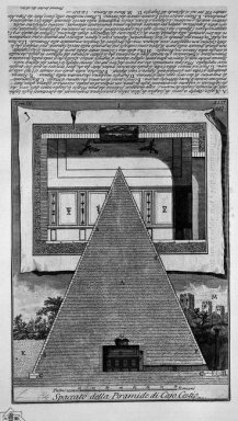 The Roman Antiquities T 3 Plate Xlv Cross Section Of The Pyramid