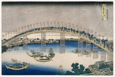 The Festival Of Lanterns On Temma Bridge 1834