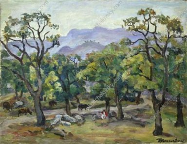 Crimea Evening Landscape Yayla 1930