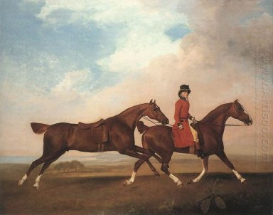 William Anderson With Two Saddle Horses 1793