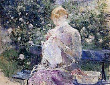 Pasie Sewing In Bougival S Garden 1881