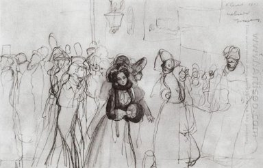 Sketch Of The Illustrations To Gogol S Nevsky Prospect