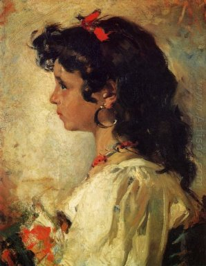Head Of An Italian Girl 1886