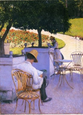 The Orange Trees Or The Artist S Brother In His Garden 1878