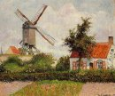 windmill at knokke belgium 1894