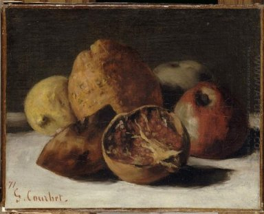 Still Life With Apples And Pomegranates 1871