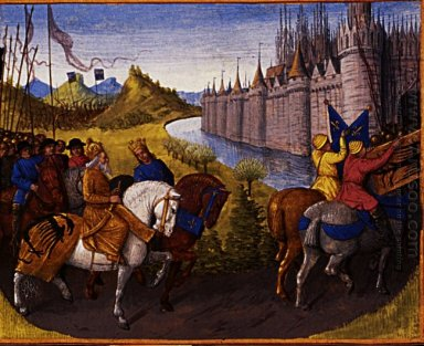 Entry Of Louis Vii C 1120 80 King Of France And Conrad Iii 1093