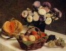 Flowers And Fruit A Melon 1865