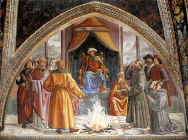 The Trial By Fire St Francis Before The Sultan Of Egypt 1485