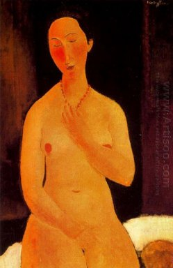 seated nude with necklace 1917