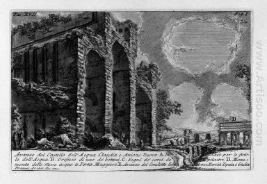 The Roman Antiquities T 1 Plate Xvii Aqua Claudia 1756