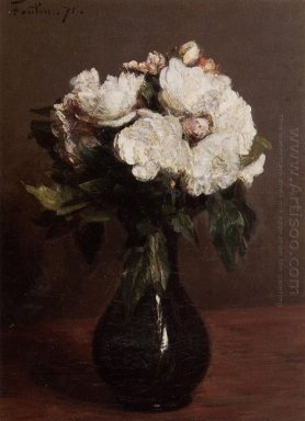 White Roses In A Green Vase 1871