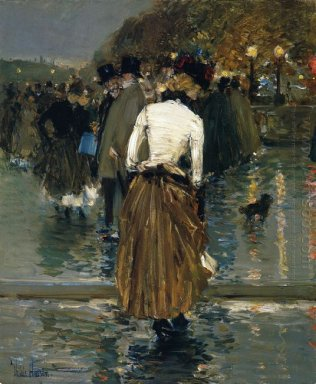 Promenade At Sunset Paris 1889