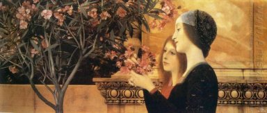 Two Girls With An Oleander