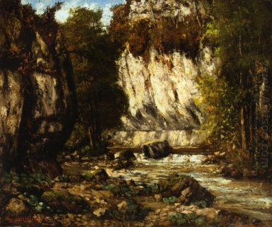 River And Cliff 1865